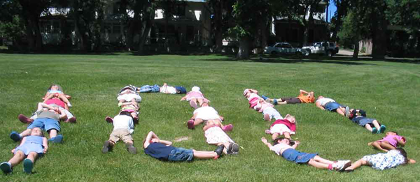 Lethbridge Montessori children celebrate 100 anniversary of Montessori education, 2007.